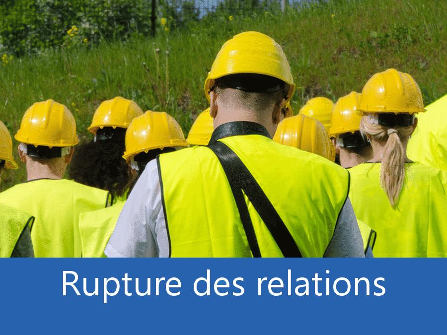 rupture des relation chantier 17, problème durant le chantier Royan, stress chantier Charente Maritime, problème durant le chantier 17